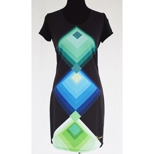 Desigual short sleeve shirt dress black sz M